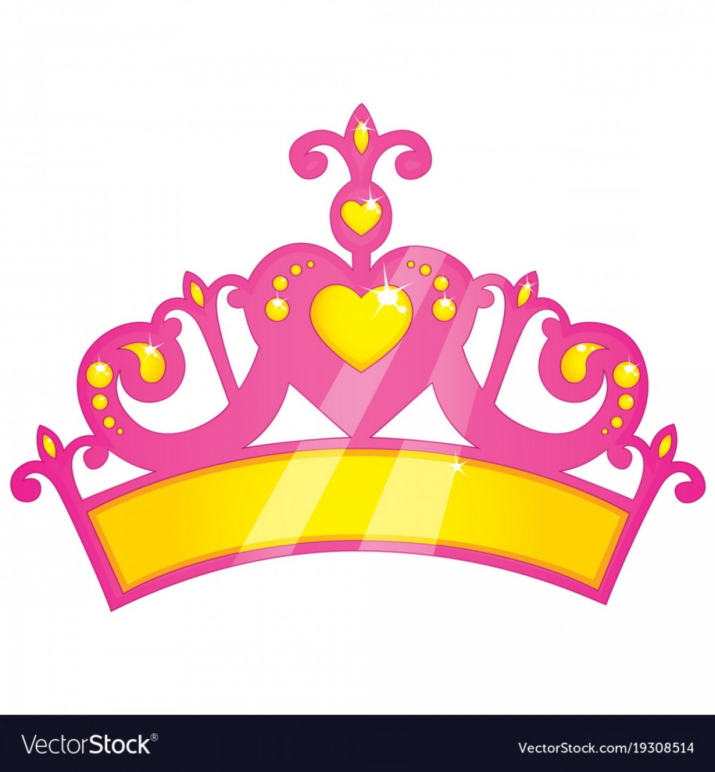 Pageant Tiaras Vector: Crown Girly Princess Vector Outline Pictures F