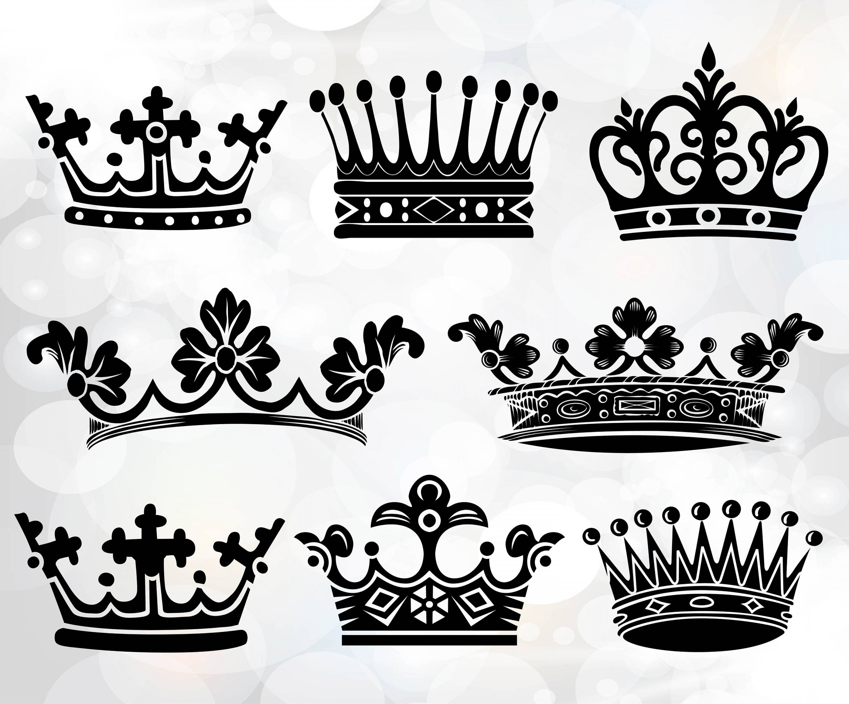 King And Queen Vector: Crown Svg Crowns Svg Crown Monogram Svg
