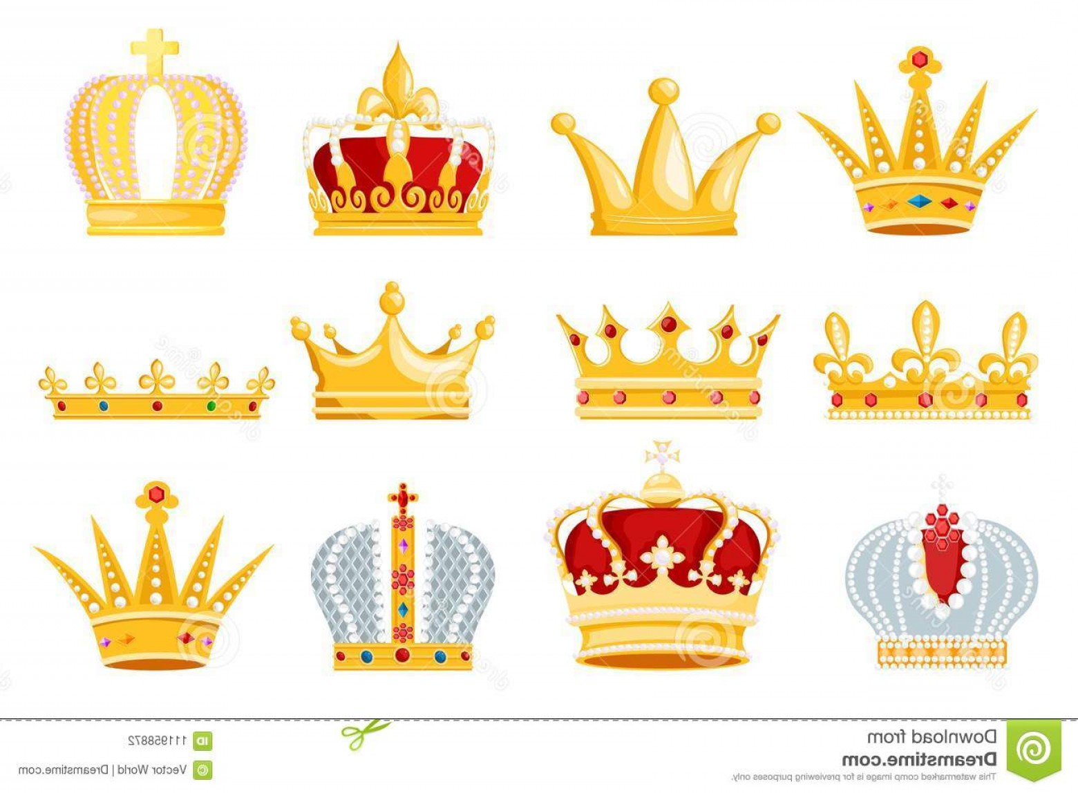 Silver Prince Vector: Crown Vector Golden Royal Jewelry Symbol King Queen Princess Illustration Sign Crowning Prince Authority Set Jeweles Image
