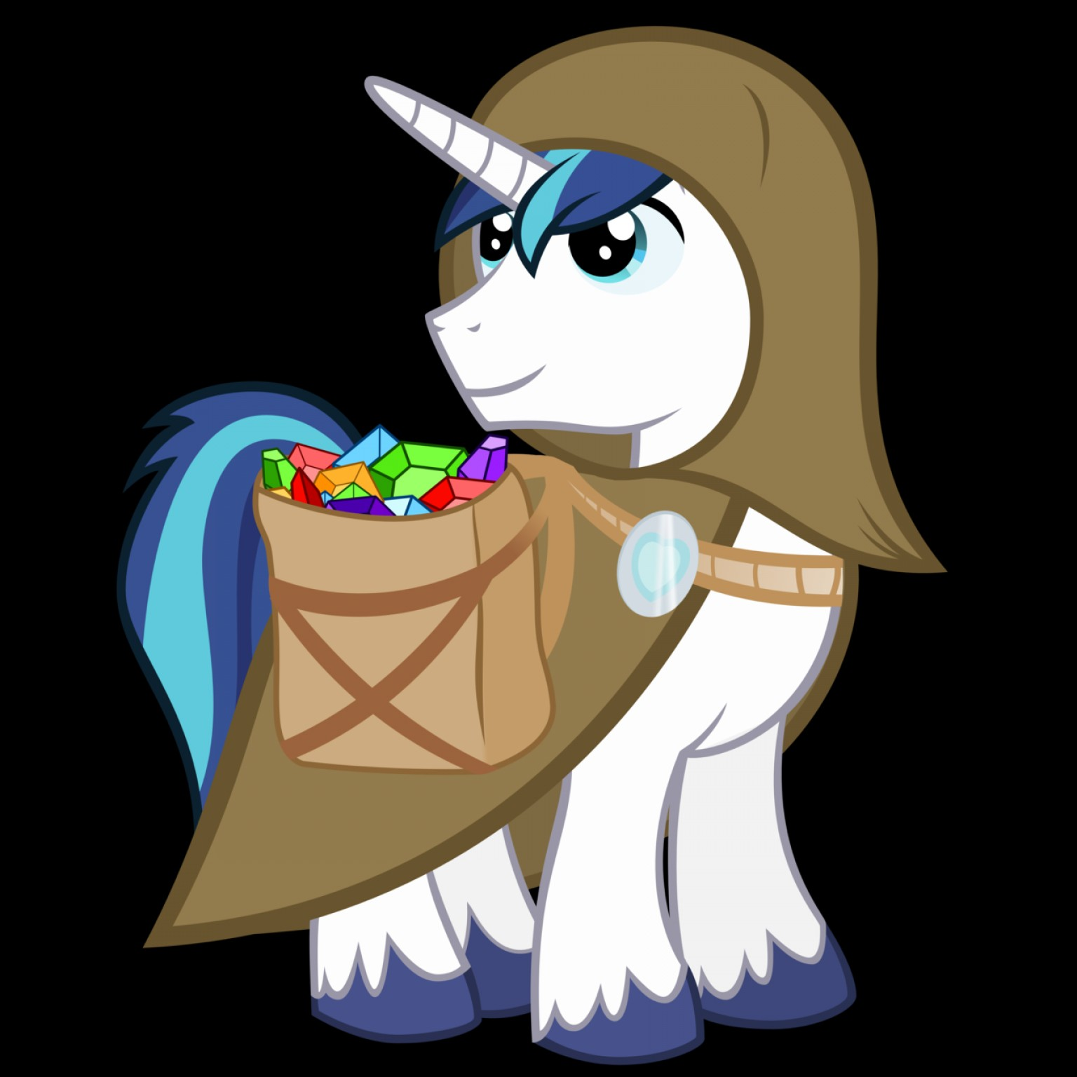 Vector Shining Armor Angry: Crystal Search Shining Armor