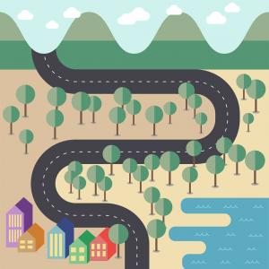 Vector Tut's Blends: Create Flat Style Vector Map Adobe Illustrator