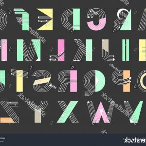 Decorative Font Vector Illustration: Beautiful Floral Font Decorative Drop