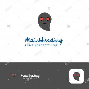 Ghosts Mario Vector: Creative Ghost Logo Design Flat Color Logo Place For Tagline Vector Illustration Image