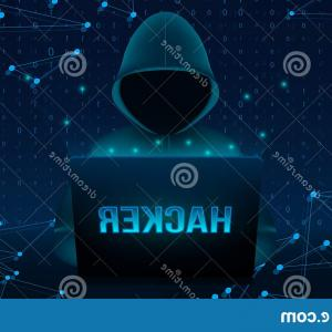 Triangle Vector Background PC: Creative Vector Illustration Computer Hacker Hoodie Dark Obscured Face Pc Laptop Background Art Design Ybersecurity Image