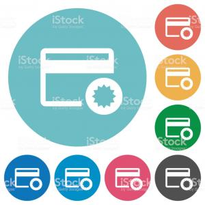 Credit Card Logo Vector Art: Credit Card Certified Service Provider Flat Round Icons Gm
