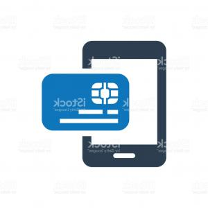 Credit Card Logos Vector: Credit Card Mobile Banking Online Shopping Payment Icon Gm
