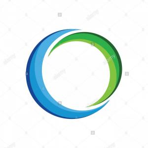 Swoosh Logo Vector Art: Abstract Blue Hole Swoosh Stroke Symbol Vector
