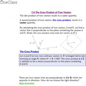 Cross Product Of Two Vectors 2 1: Cross Product Of Vectors