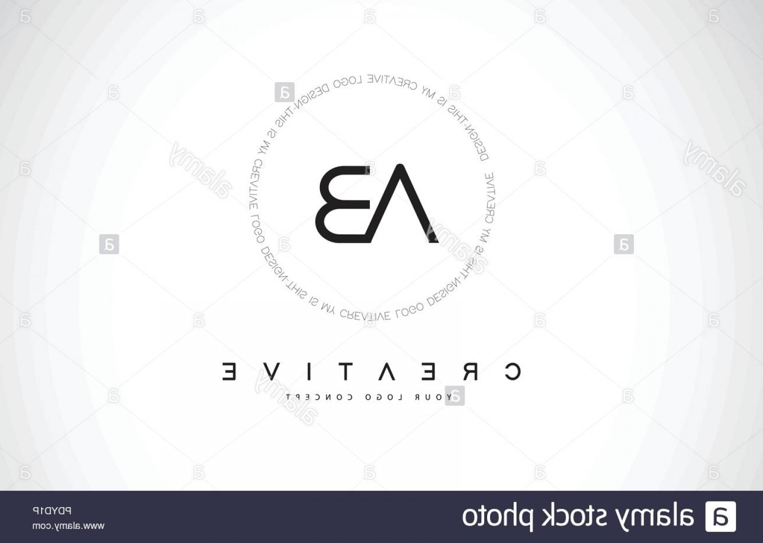 Log C Vector: Ct C T Logo Design With Black And White Creative Icon Text Letter Vector Image
