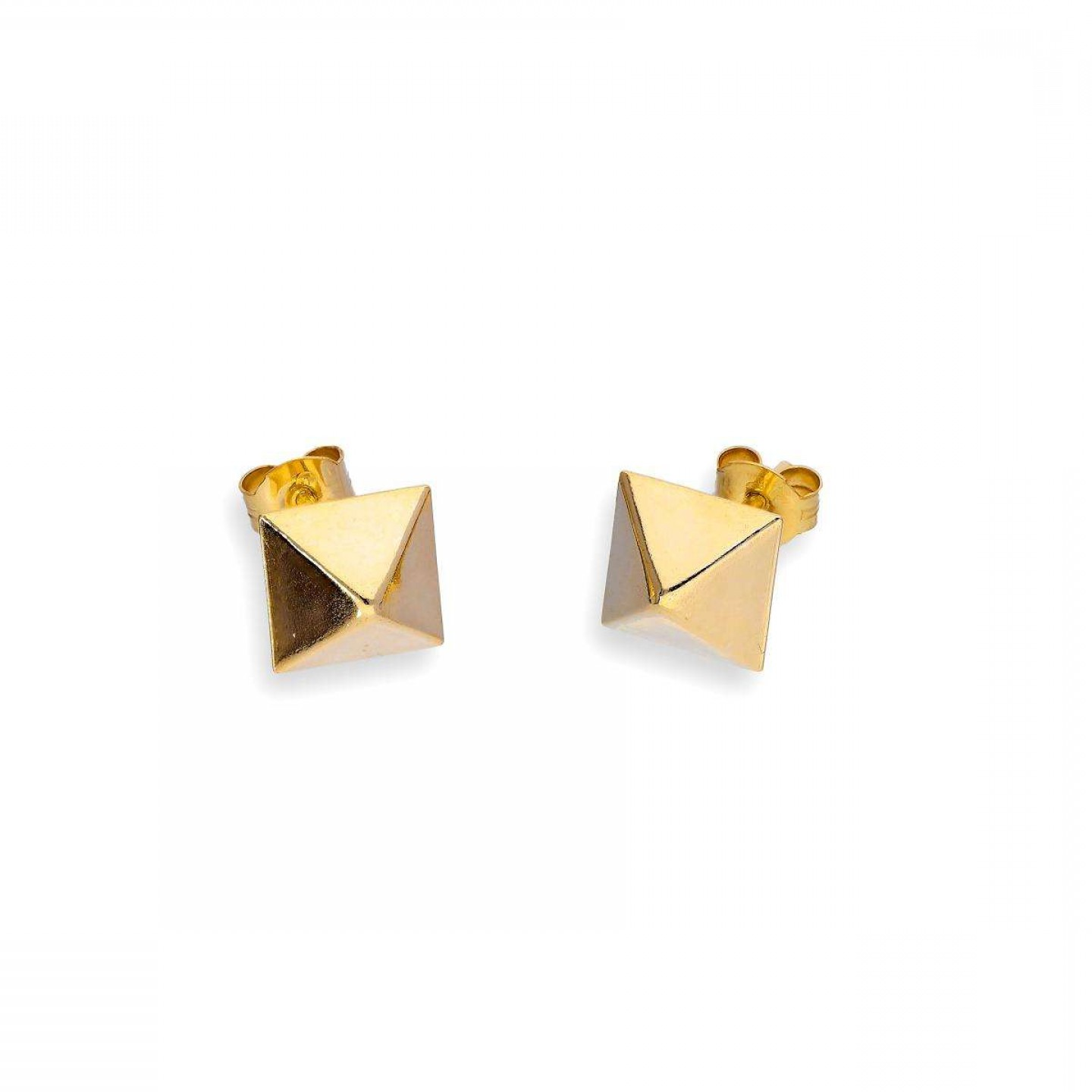 Pyramid Stud Vector: Ct Gold Square Pyramid Stud Earrings
