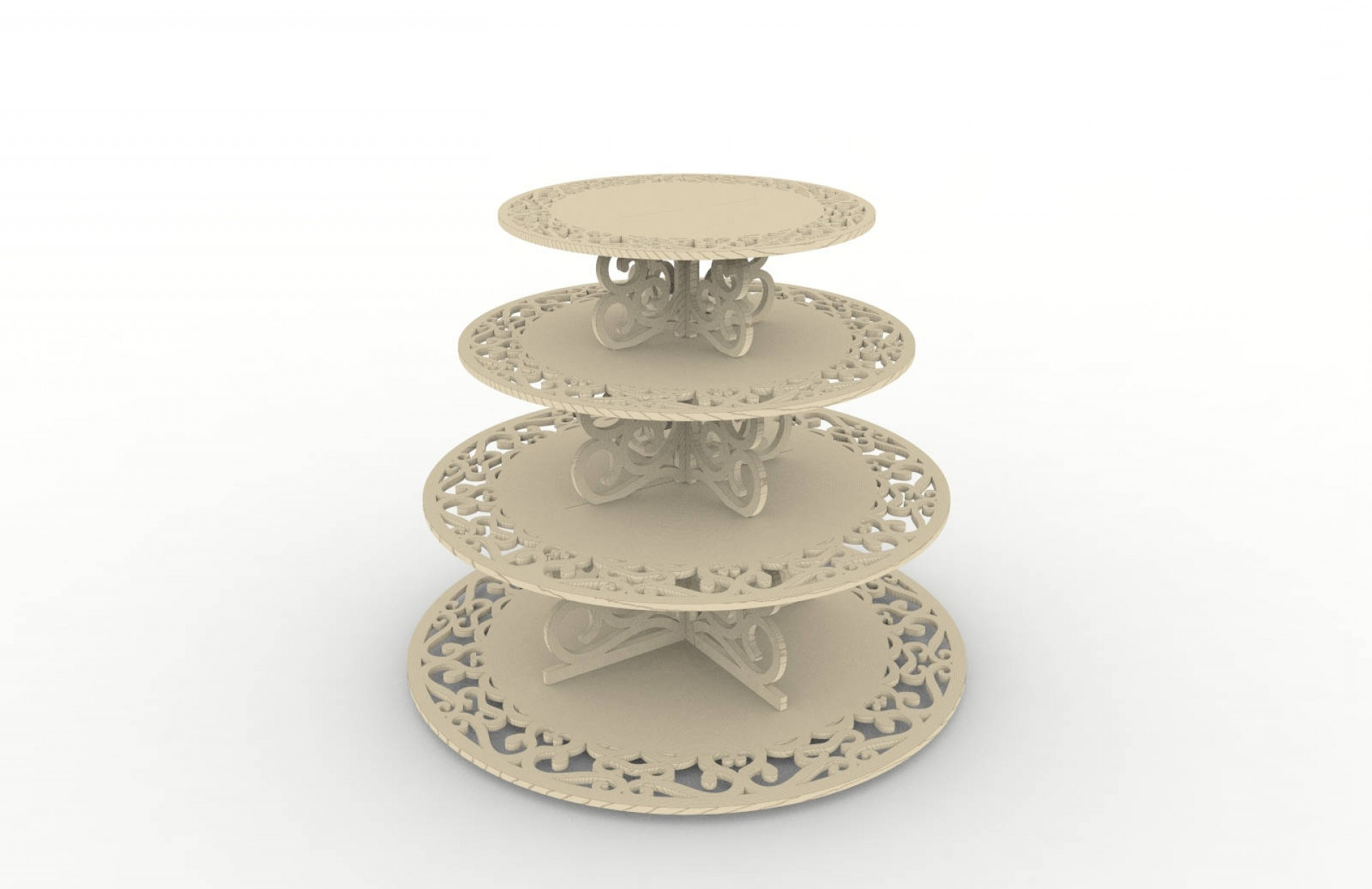 Vector 3 Tier Tray: Cupcake Stand Pattern Vector For Laser