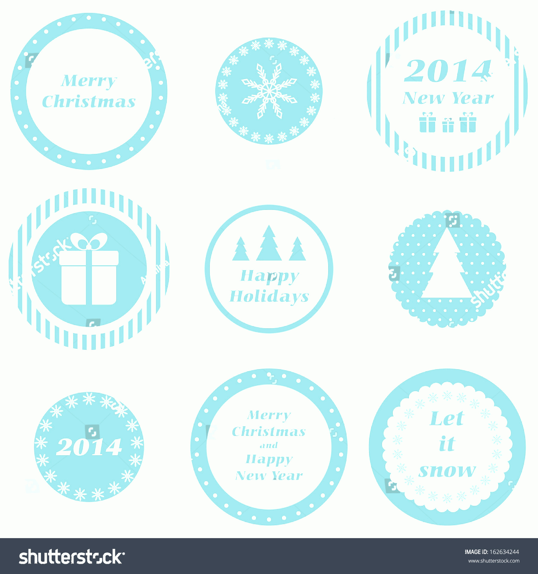 Vector Christmas Toppers: Cupcake Toppers Christmas New Year