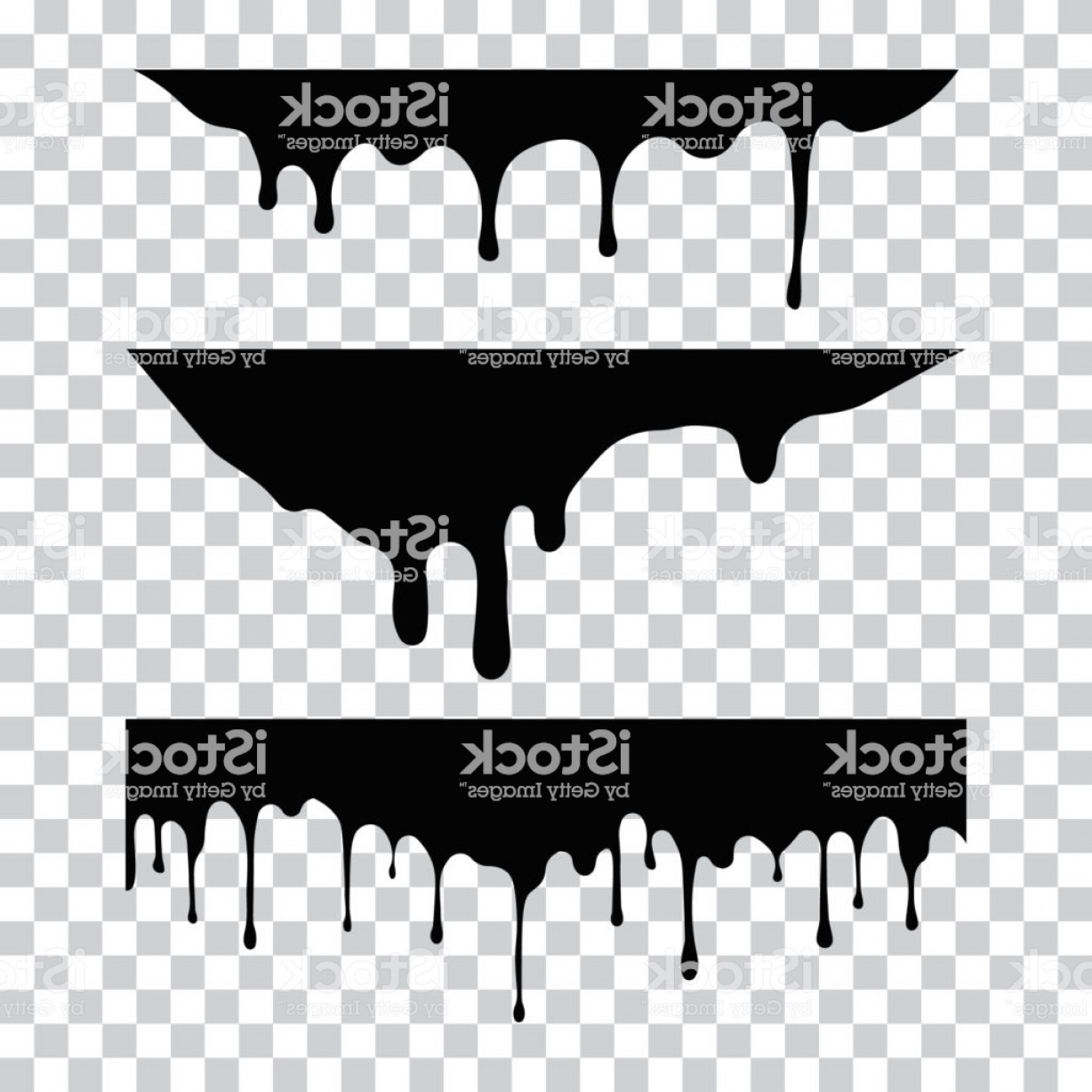 Dripping Paint Vector Illustration: Current Paint Stains Current Drops Current Inks Paint Dripping Dripping Liquid Gm