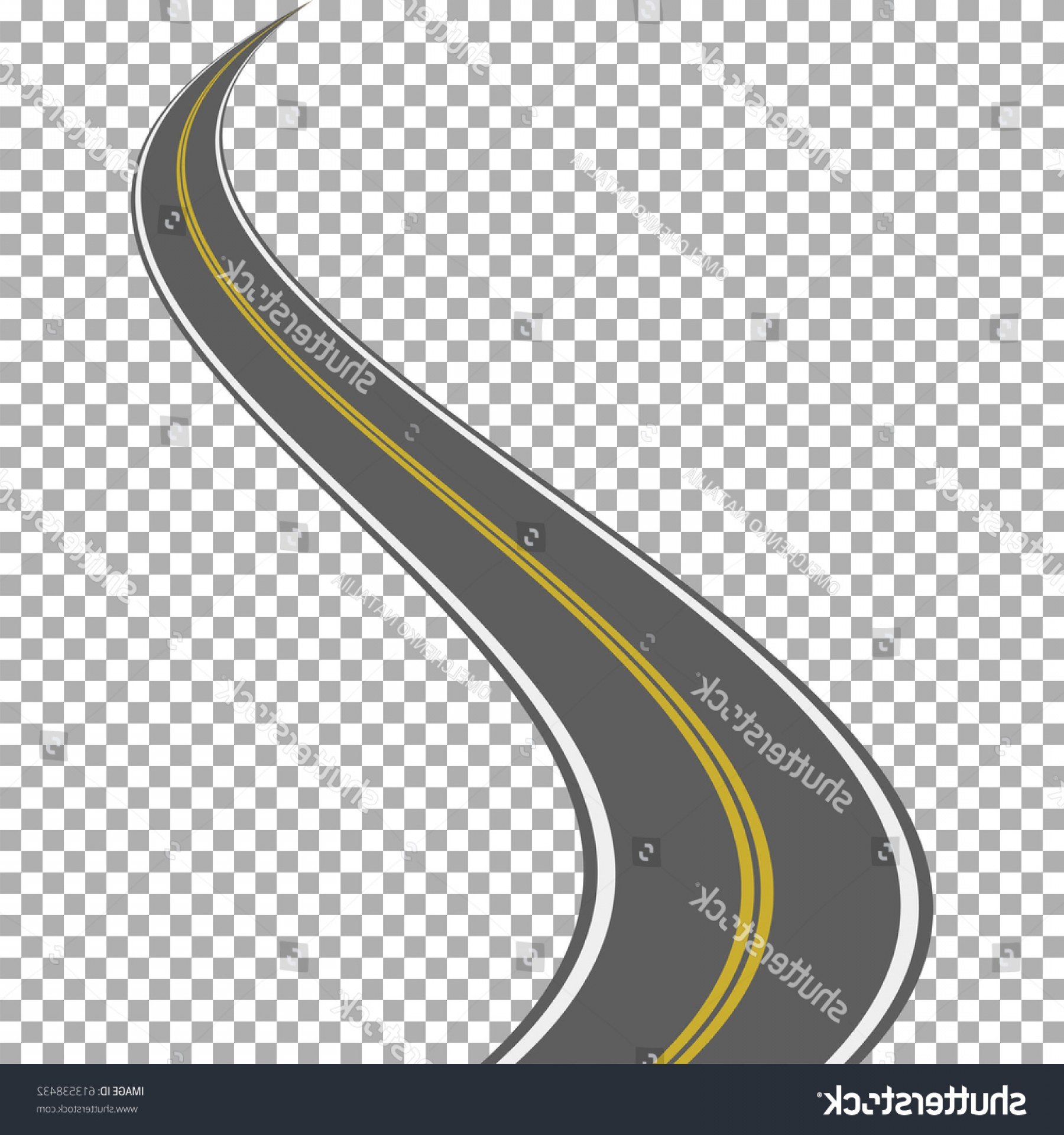 Transparent Curved Road Vector: Curved Road Isolated On Transparent Background