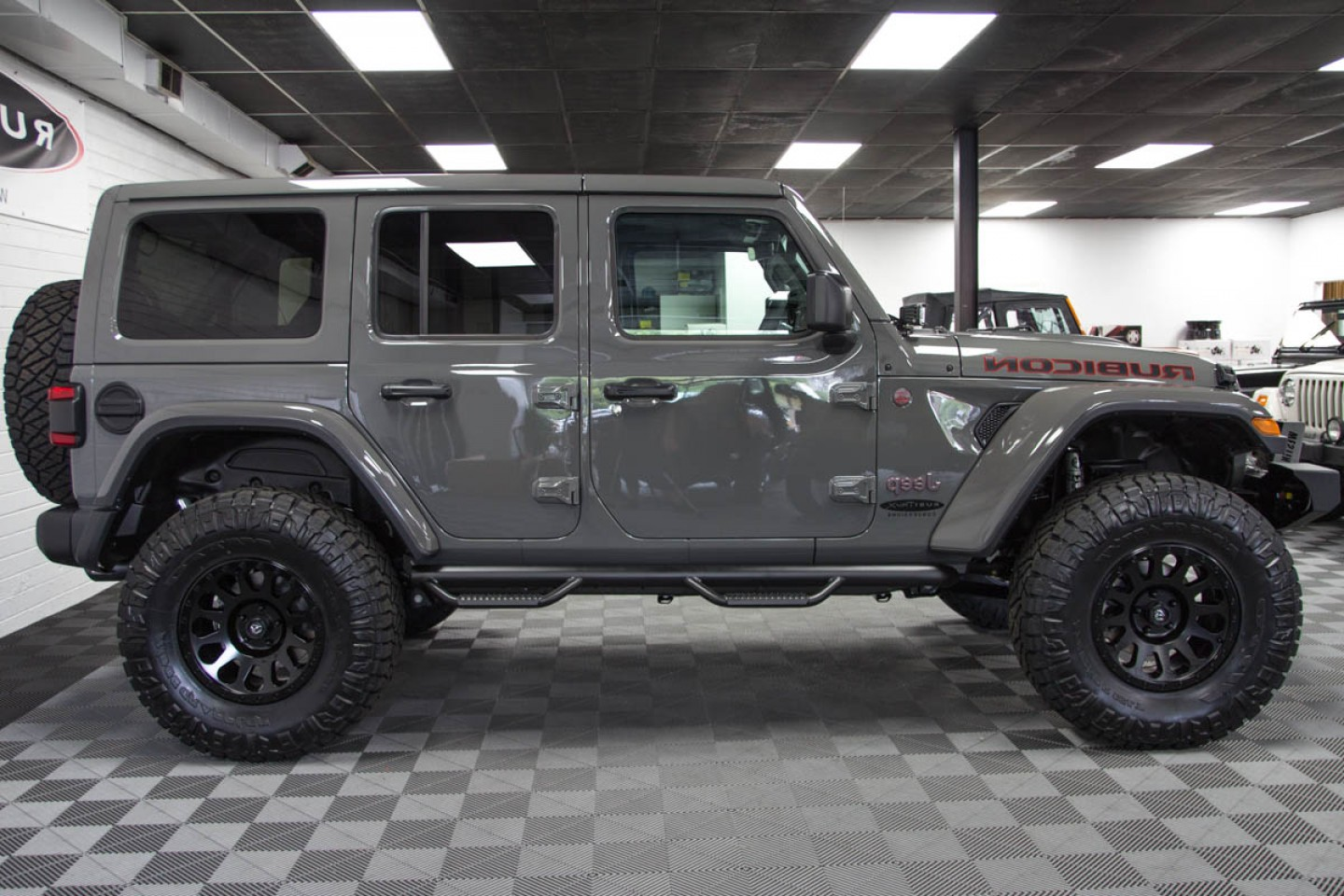 Jeep Tire Vector: Custom Jeep Wrangler Rubicon Unlimited Jl Sting Gray