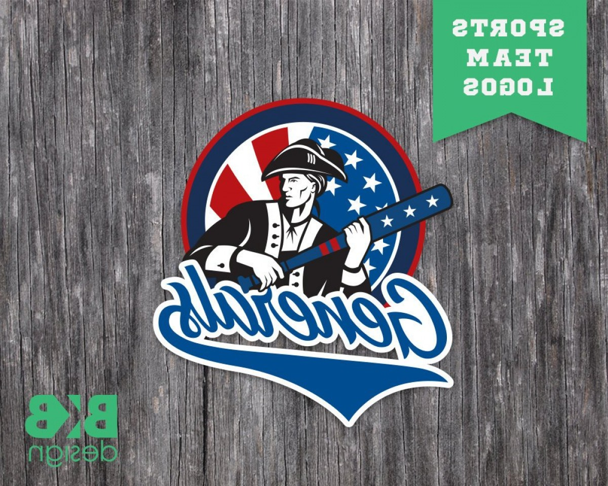 Little League Baseball Vector Logo No Text: Custom Sports Team Logo Team Mascot