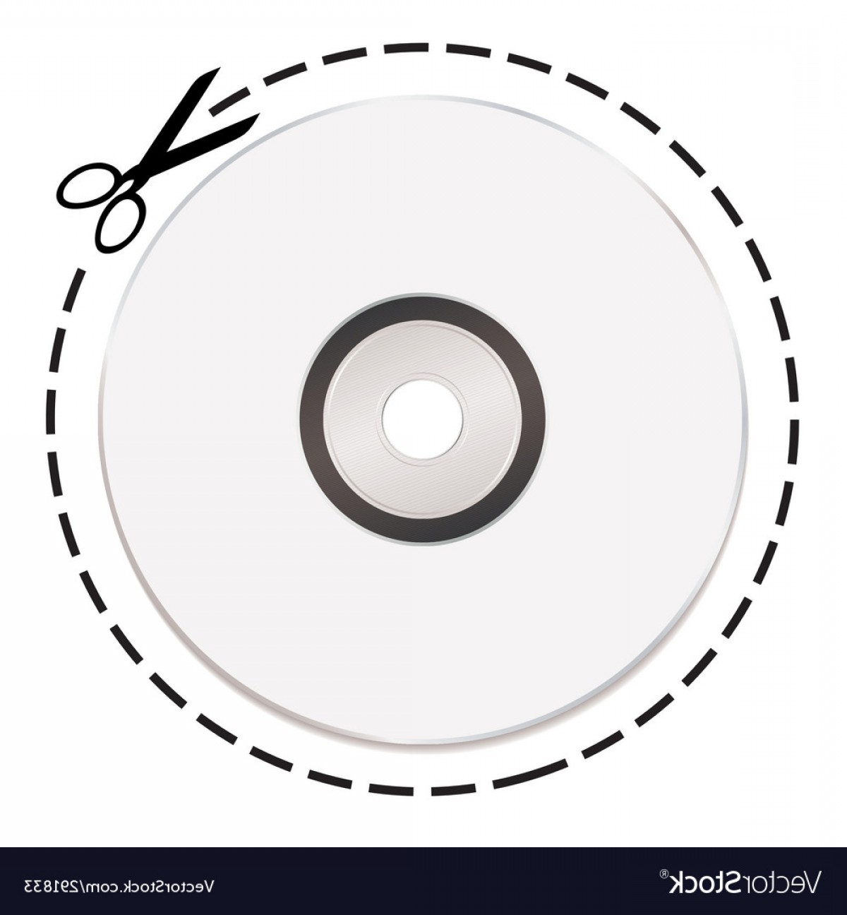 CD Label Template Vector: Cut Out Cd Token Vector