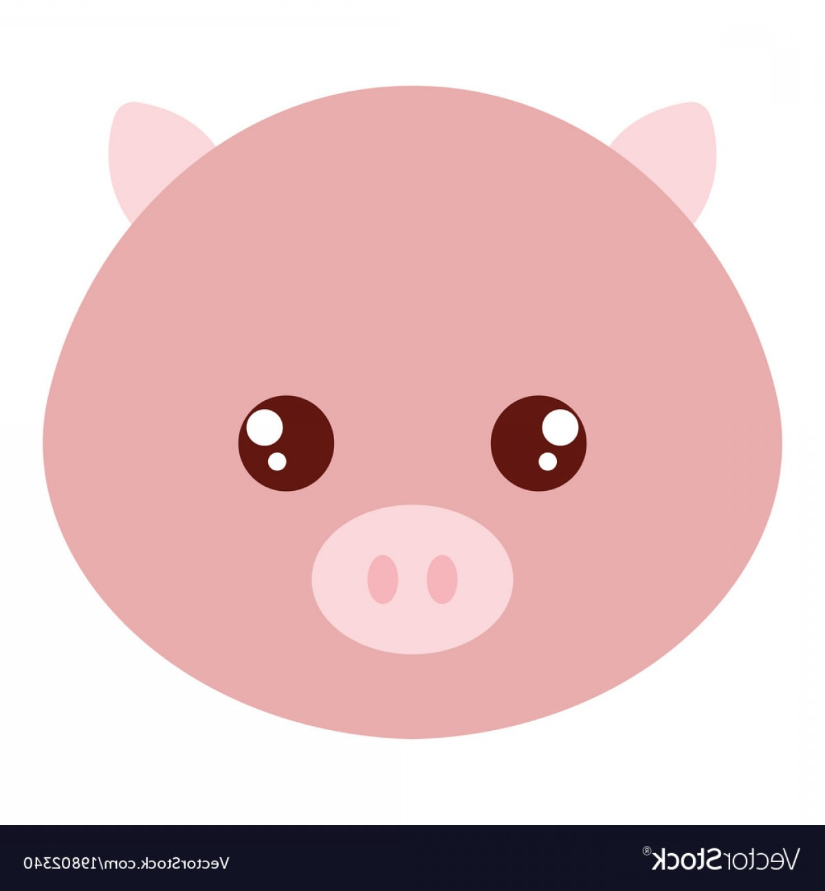 Vector Pig Nose: Cute And Tender Pig Head Character Vector