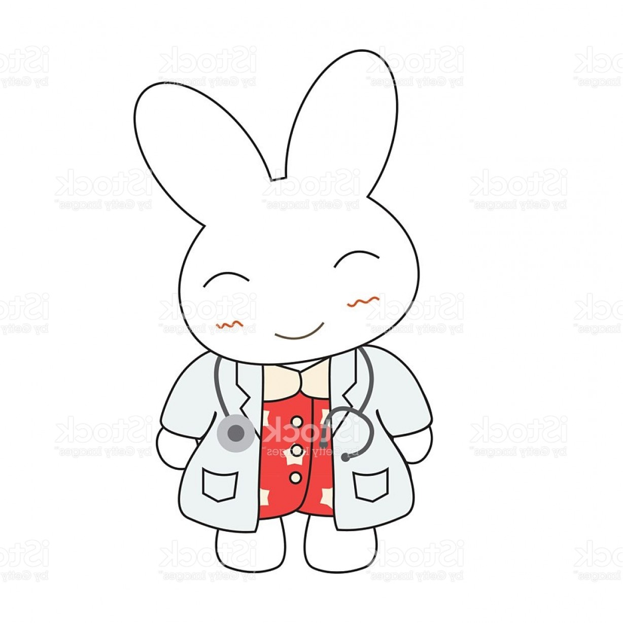 Animated Bunny Face Vector: Cute Cartoon Bunny Girl In A Doctor Suite Gm
