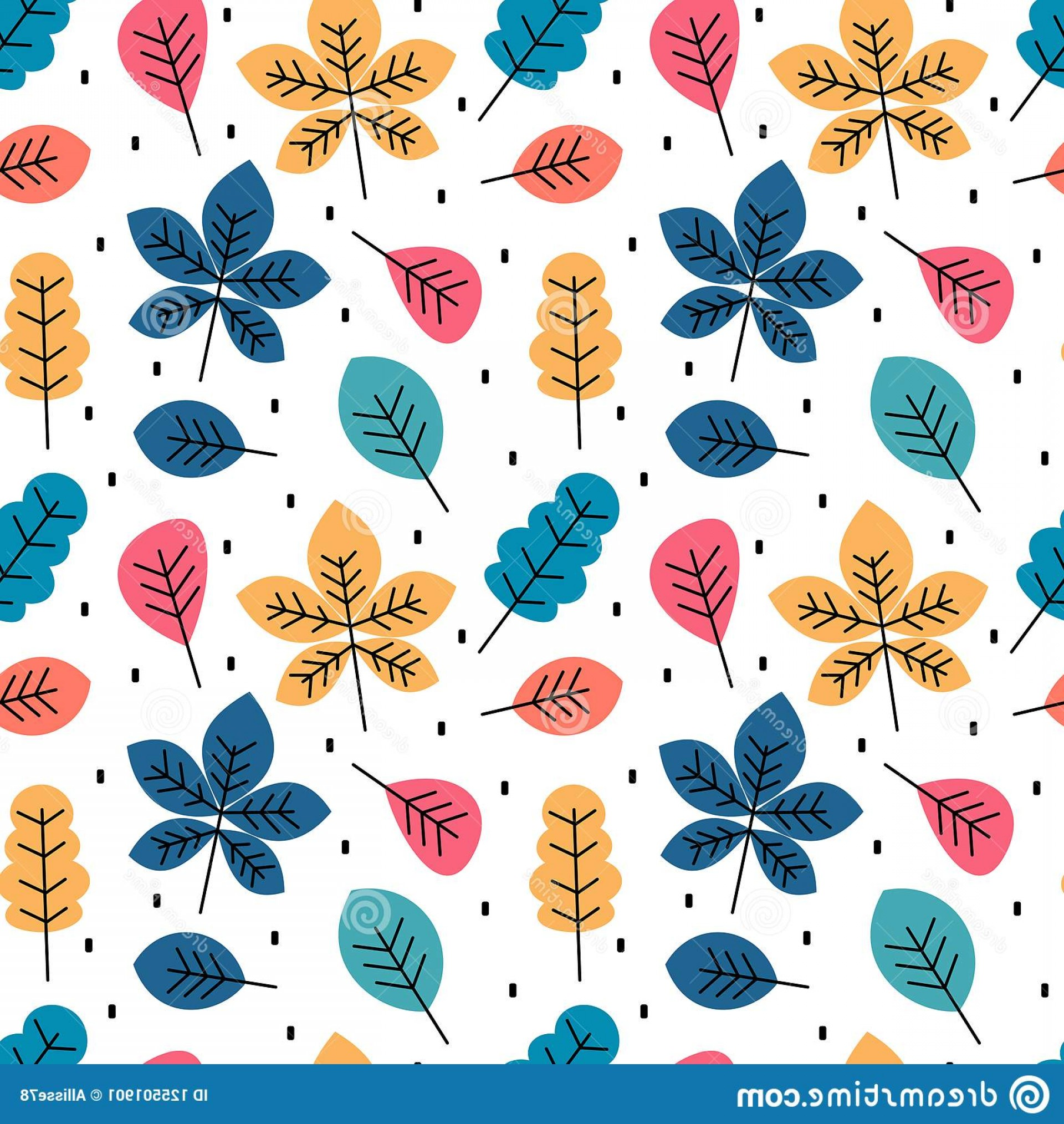 Autumn Seamless Vector: Cute Colorful Autumn Fall Seamless Vector Pattern Background Illustration Leaves Cute Colorful Autumn Fall Seamless Pattern Image