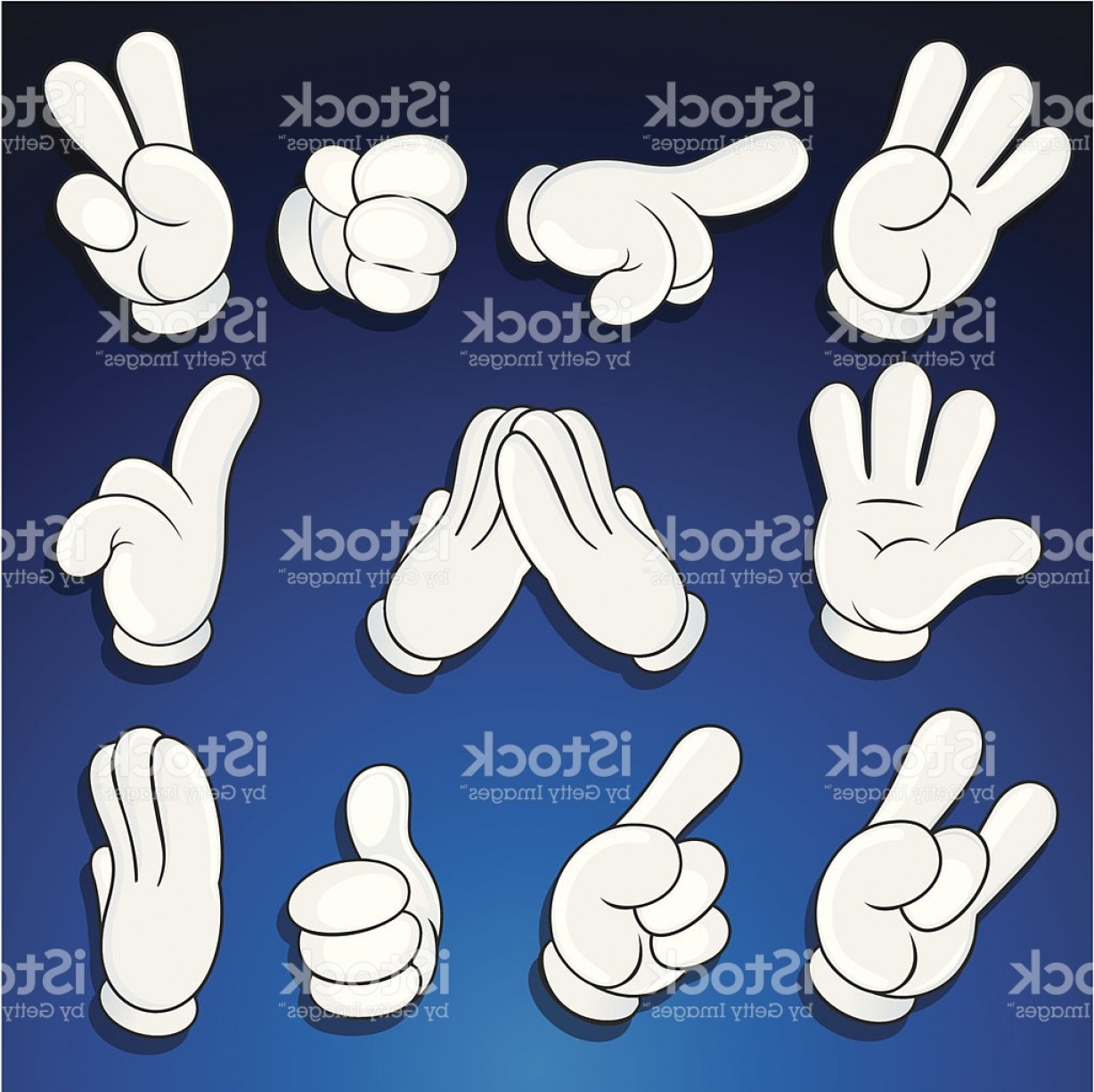 Hand Vector Clip Art: Cute Comics Hands Vector Clip Art Gm