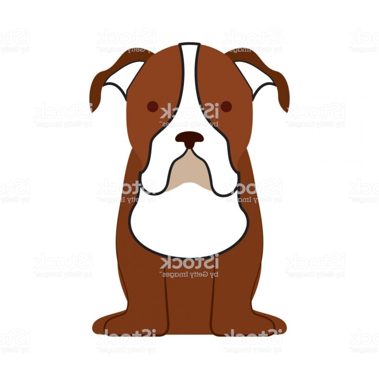 Double Boxer Dog Vector: Cute Dog Mascot Icon Gm