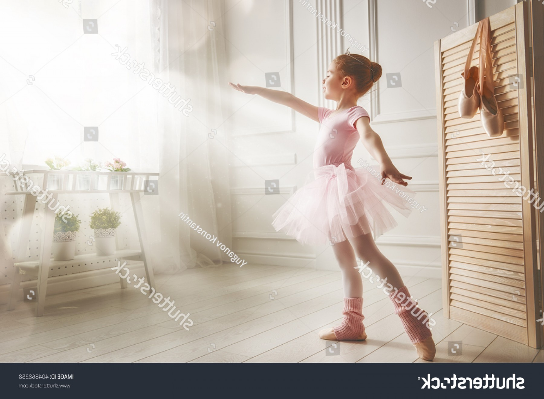 Ballet Vector Babydancer: Cute Little Girl Dreams Becoming Ballerina