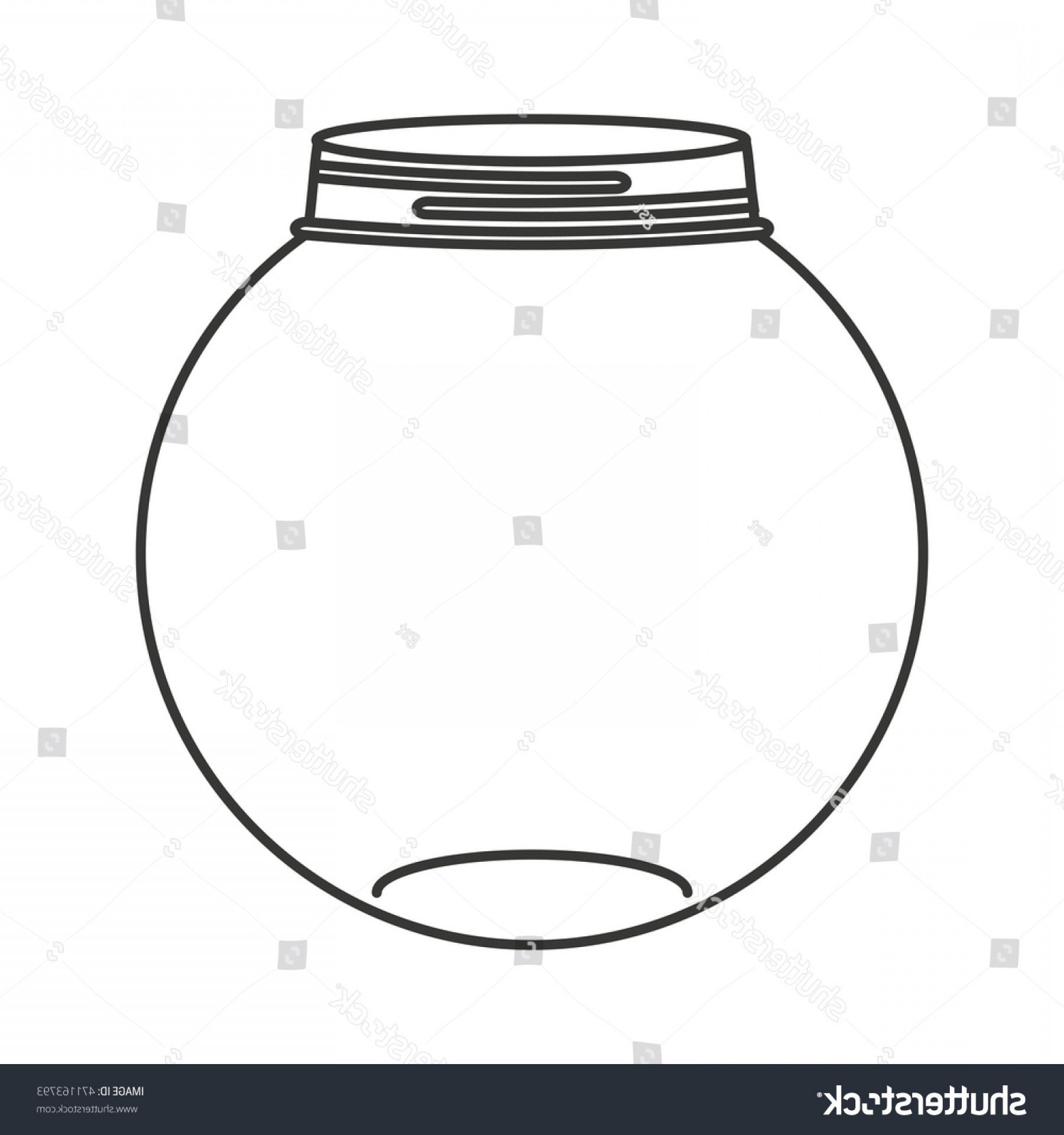 Mason Jar Outline Vector: Cute Mason Jar Isolated Icon Vector