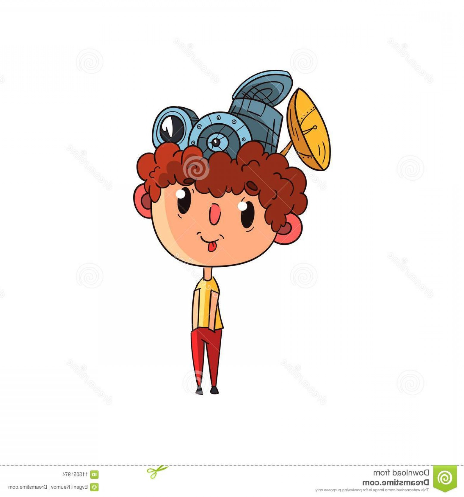 Woman Physics Adding Vectors: Cute Scientist Boy Character Working Physics Science Experiment Funny Kid Antennas His Head Vector Cute Scientist Boy Image