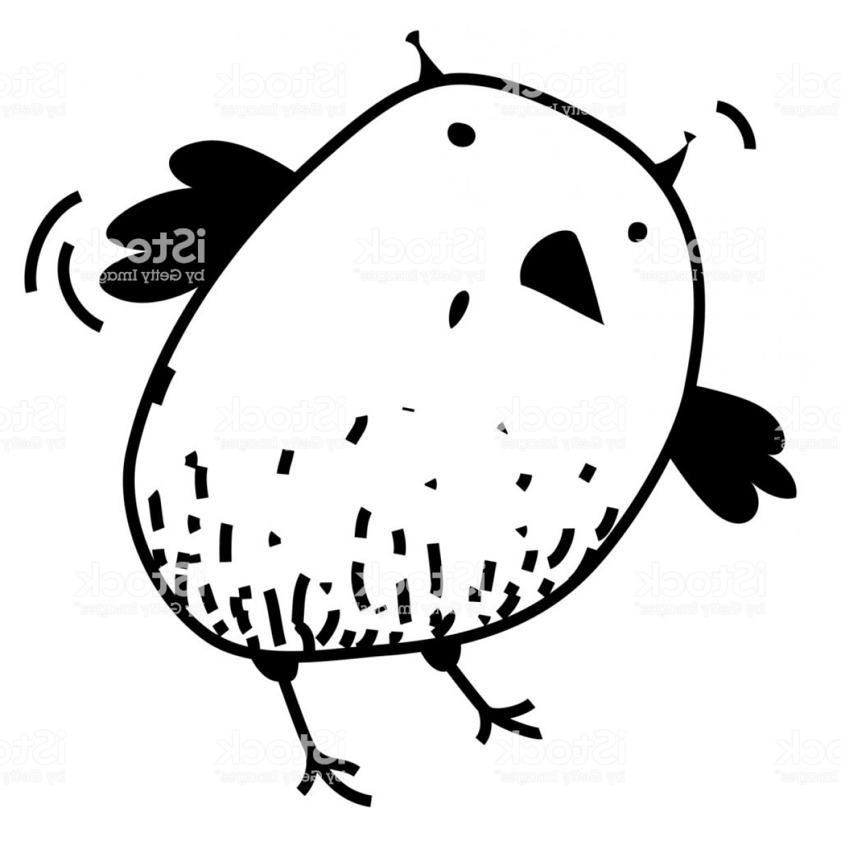 Funny Black And White Vector: Cute Surprised Eagle Owl Colorless Contour Outline Funny Cartoon Picture Black And Gm