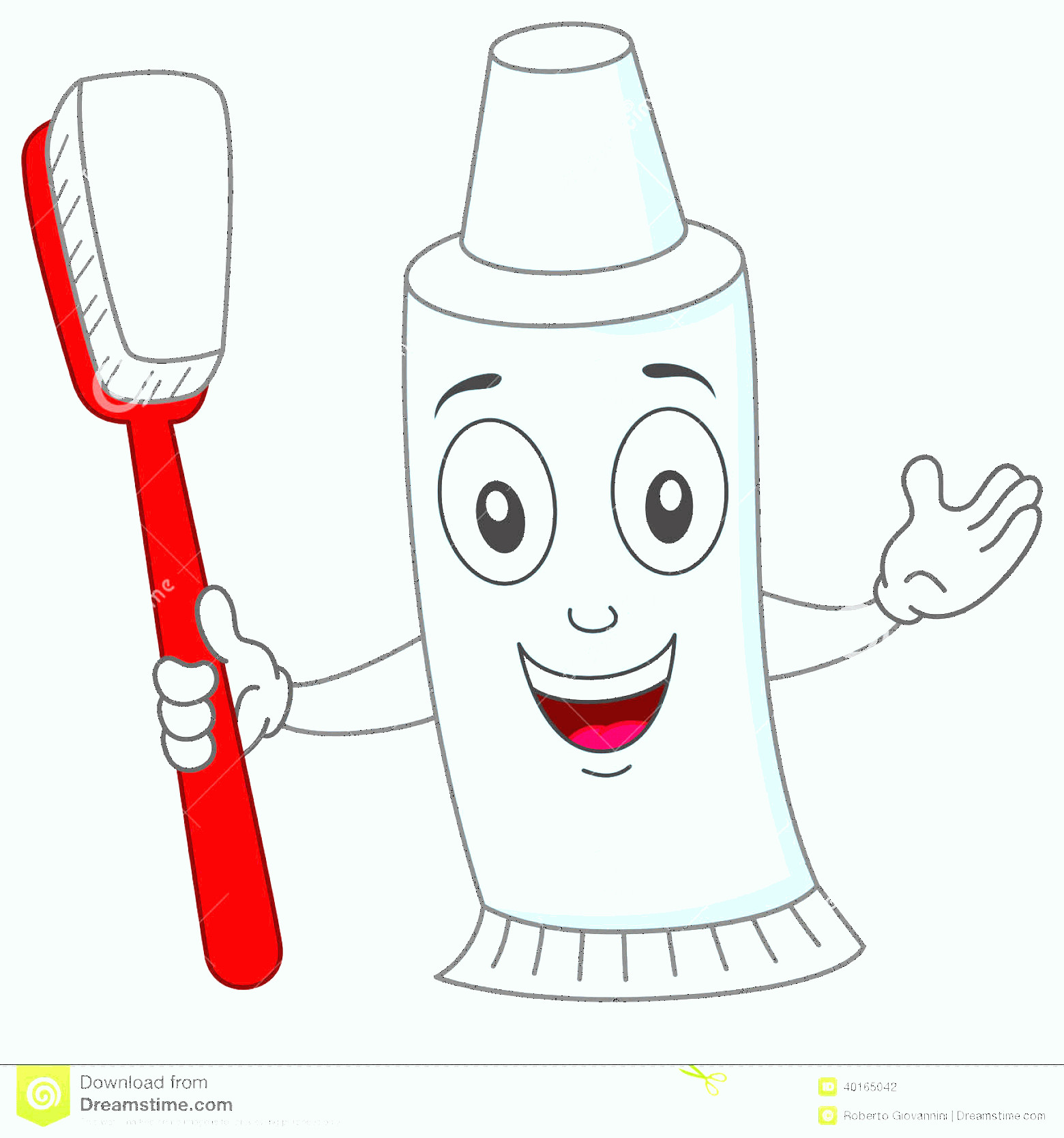 Toothpaste Cartoon Vector: Cute Toothbrush And Toothpaste Clipart