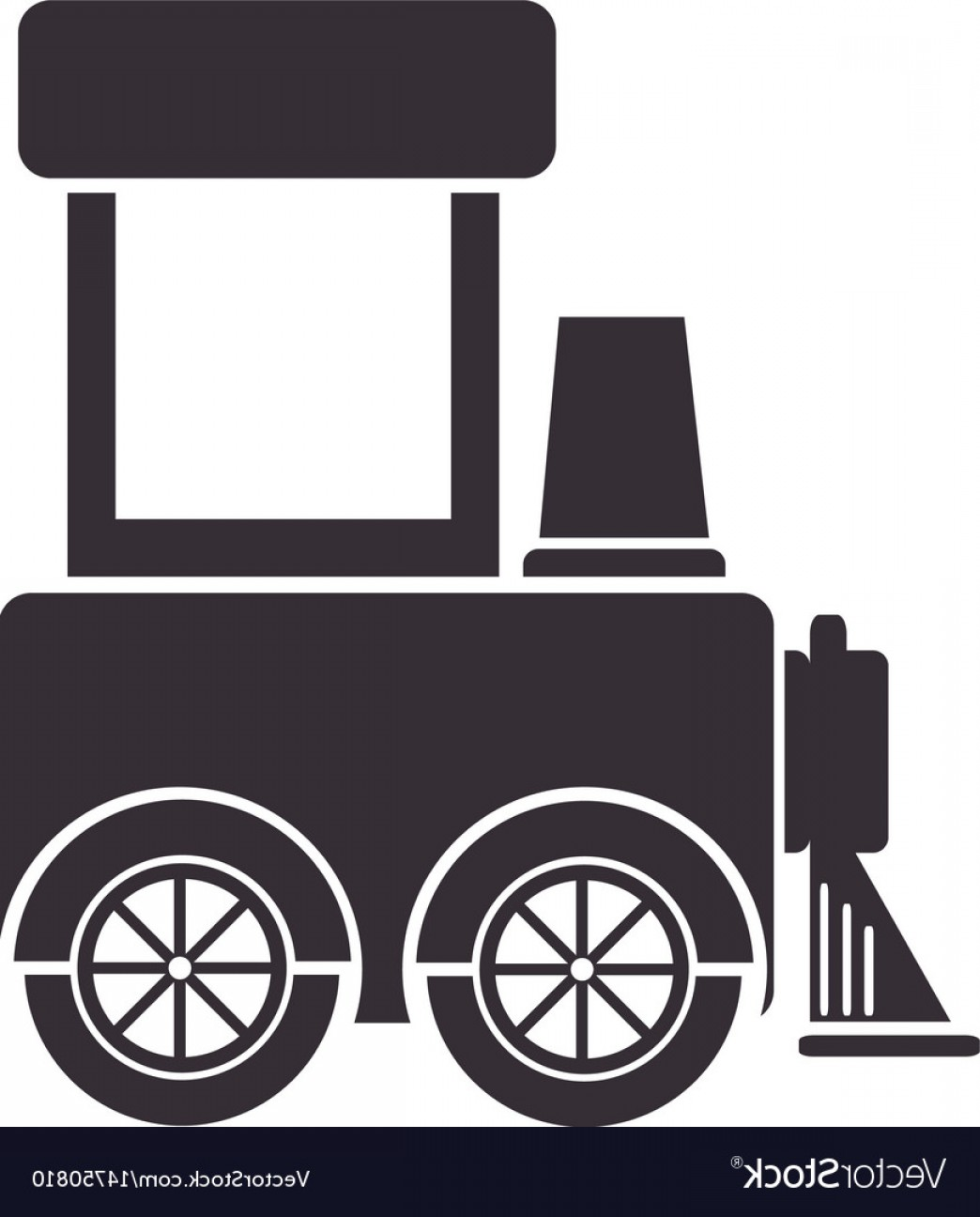 Vector Train Wheel: Cute Train Toy Icon Vector