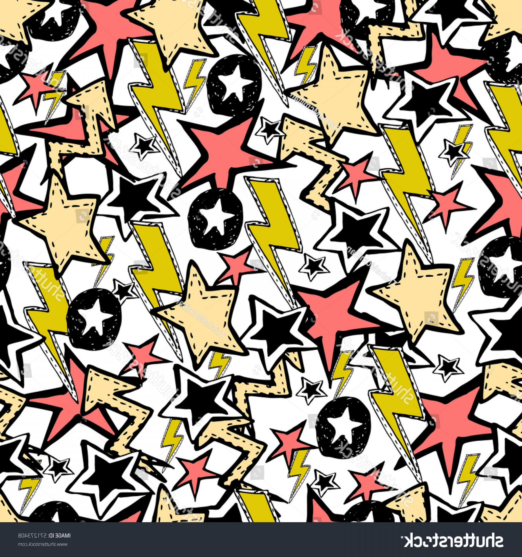Vinyl Roll Vector: Cute Vector Seamless Pattern Rock N
