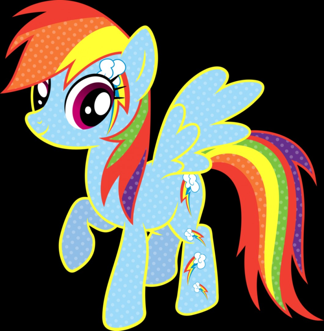 I Love You Mark Vector: Cutie Mark Magic Rainbow Dash Vector