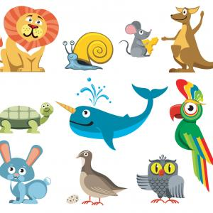 Www Cute Animals Vector Set: Cute Animals Vector Set In Cartoon Style