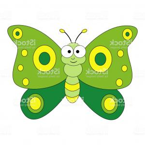 Butterly Vector: Cute Cartoon Butterfly Vector Illustration Isolated On White Ba Gm