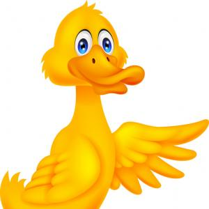 Cartoon Duck Vector: Stock Vector Cartoon Mallard Duck Waving Isolated On White Background