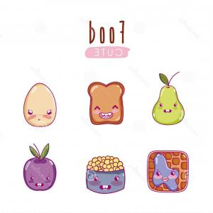 Kawaii Bug Vector: Stock Illustration Cute Kawaii Cartoon Corn Smiling
