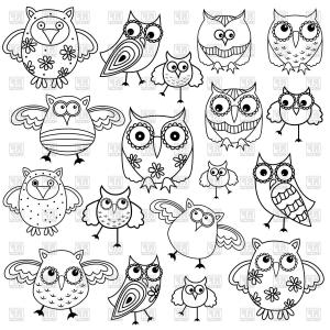 Owl Silhouette Vector Art: Photostock Vector Frame With Greek Meander And Owl Silhouette