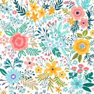 Beautiful Patterns Vector: Cute Pattern Small Abstract Flower Beautiful