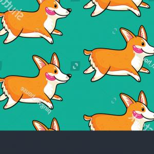 Corgi Vector Multicolor: Abstract Background Multicolor Paper Cut Shapes