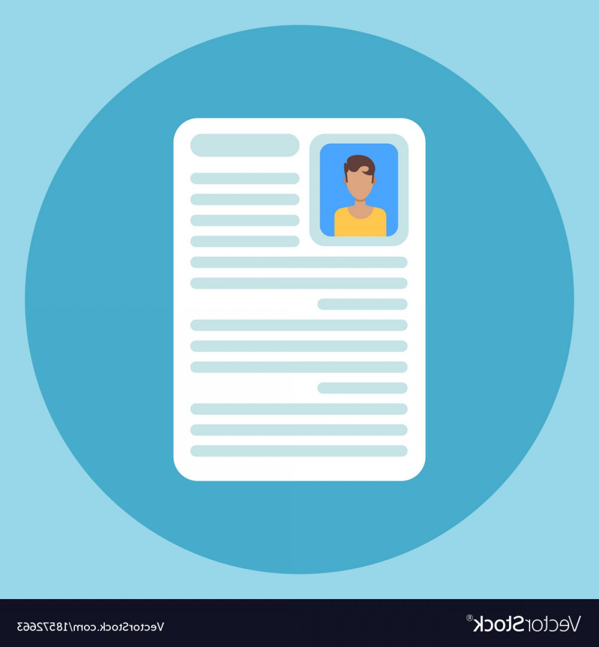 Vector Application Form: Cv Resume Icon Application Form Document Vector