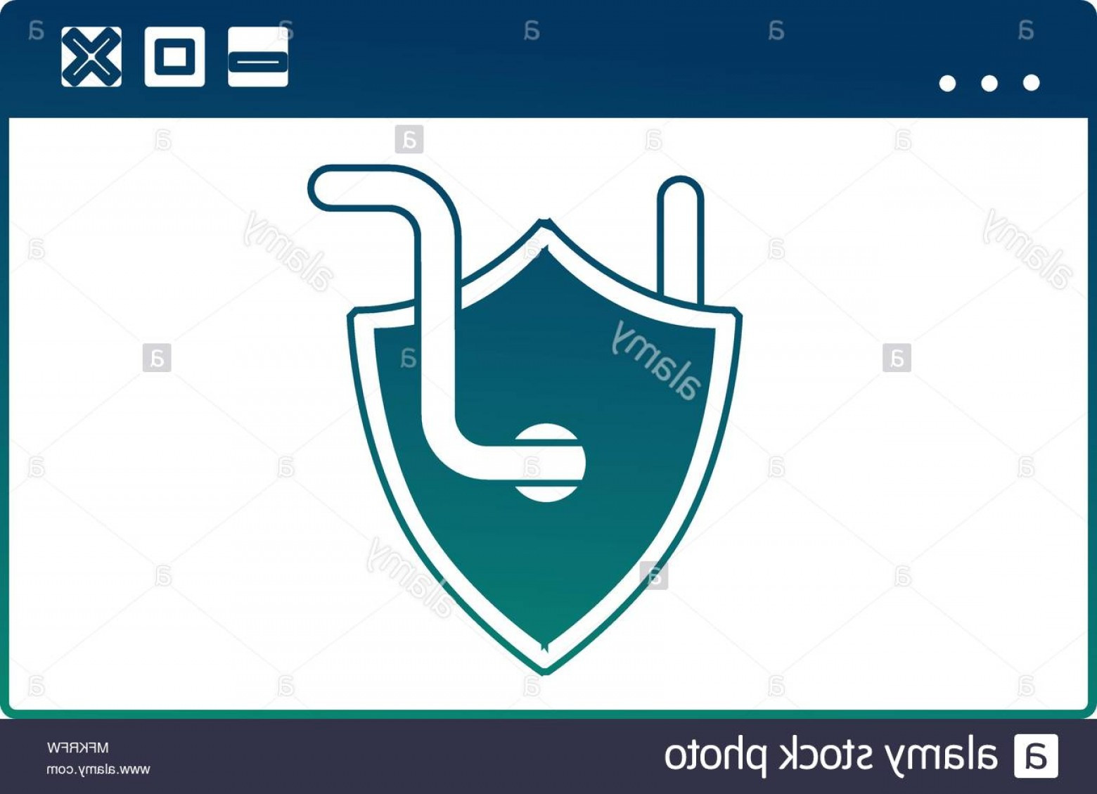 Cyber Defense Vector: Cyber Security Website Worm Virus Crime Attack Image