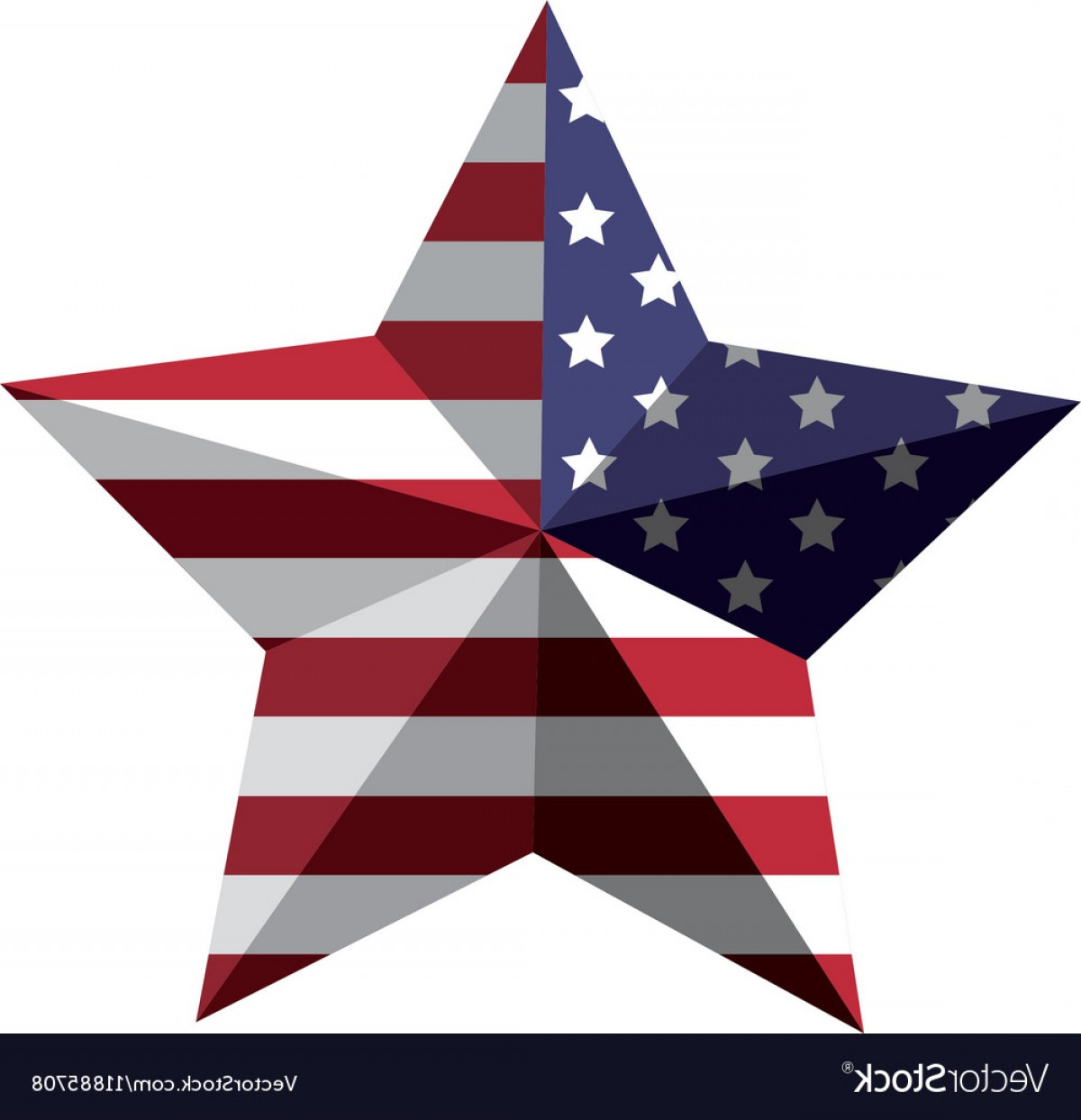 American Flag Stars Only Vector: D American Flag Star Icon Vector