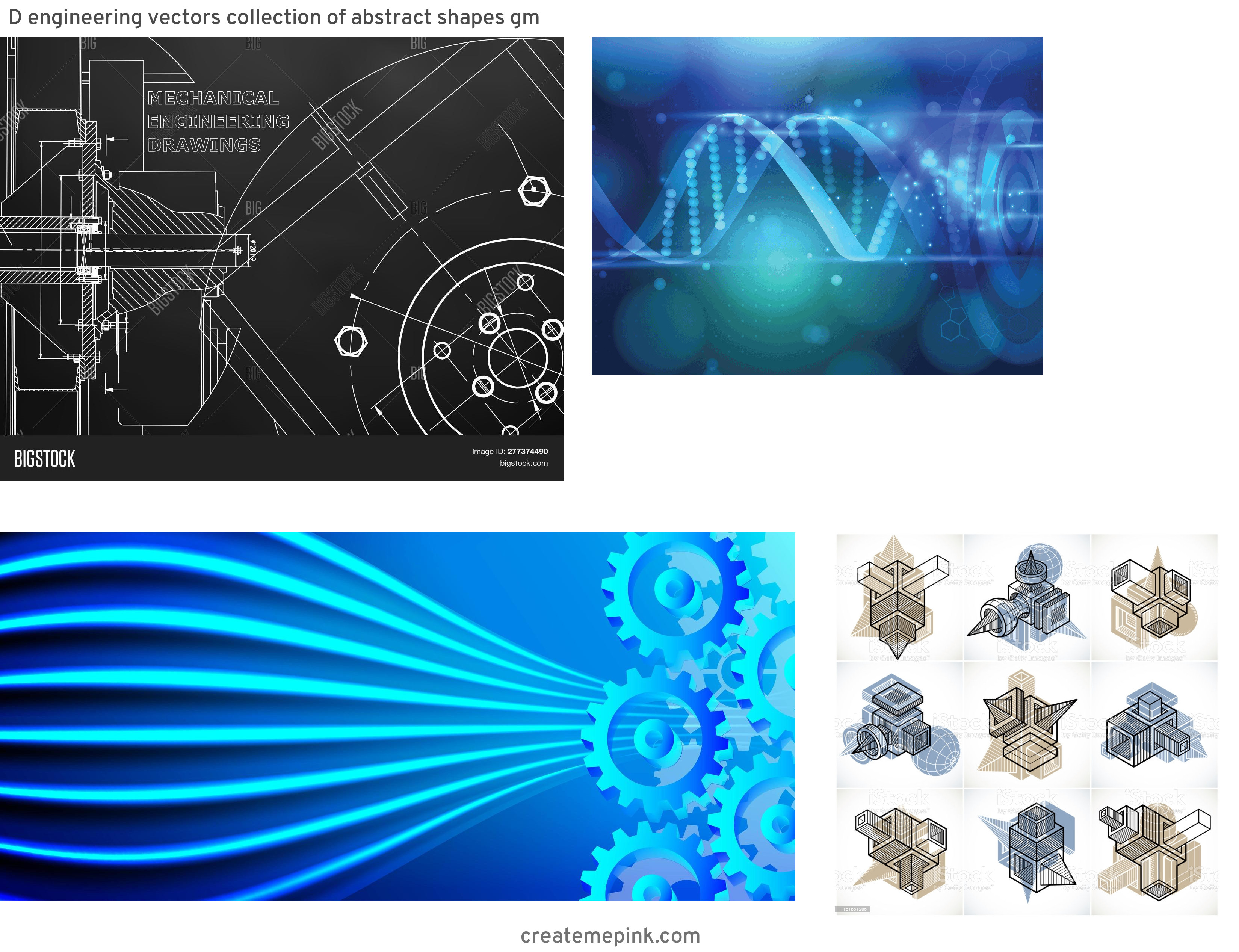 Engineering Vector Pattern: D Engineering Vectors Collection Of Abstract Shapes Gm