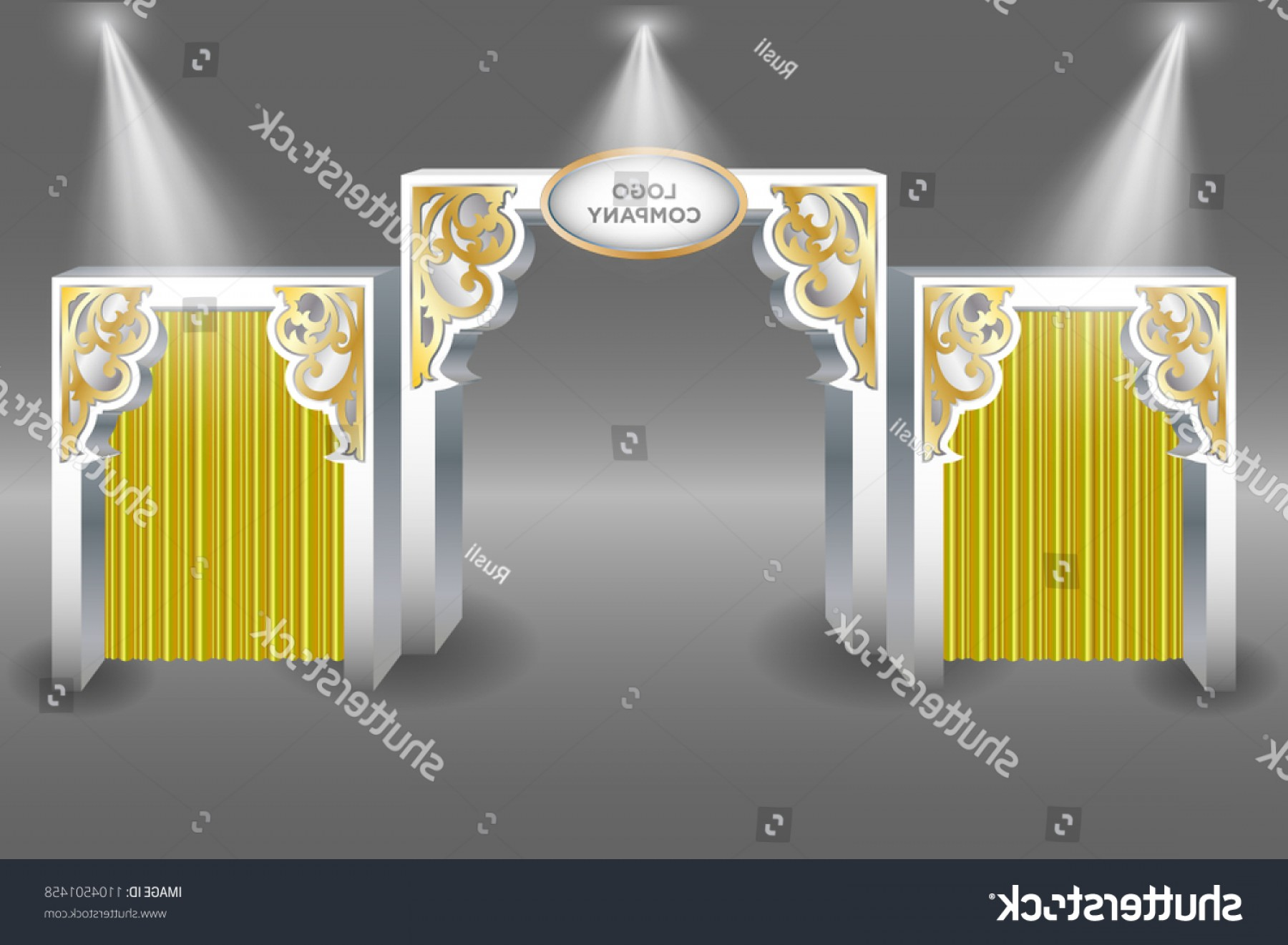 Vector Spotlight 3 Million: D Gate Entrance Ornament Islamic Ramadan