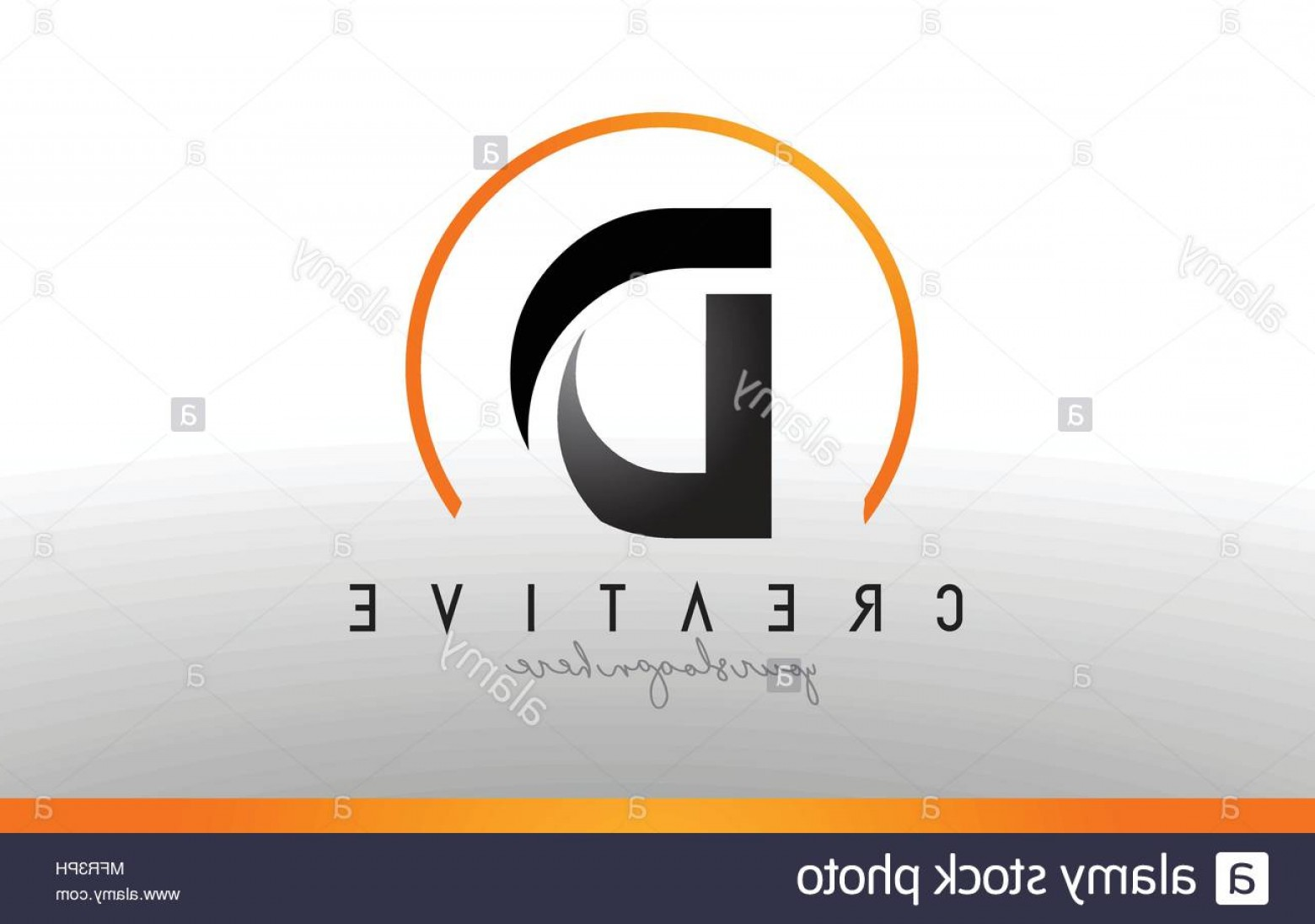 Cool Logo Icon Vector: D Letter Logo Design With Black Orange Color Cool Modern Icon Letters Logo Vector Image