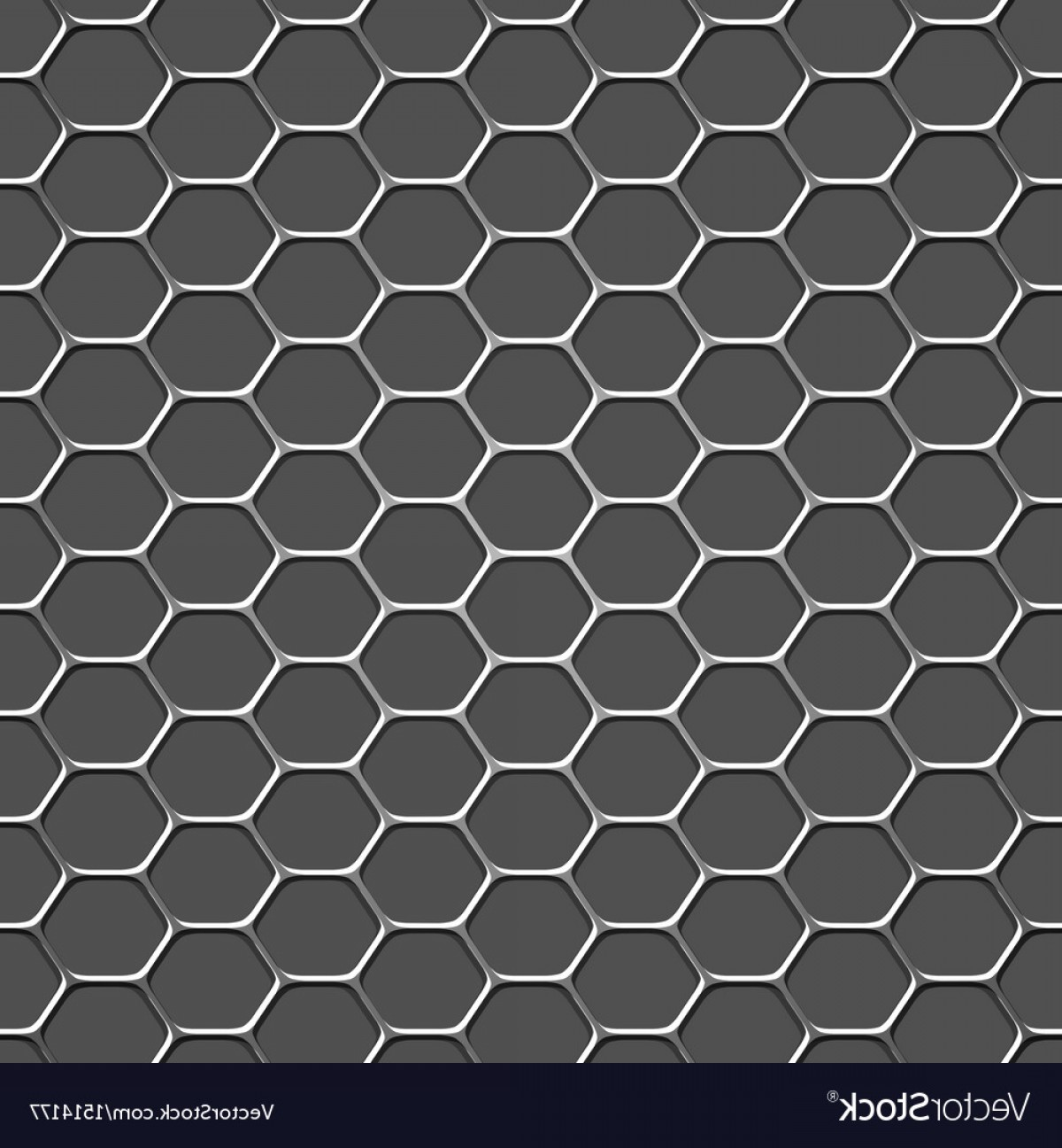 Honeycomb Background Pattern Vector: D Monochromatic Honeycomb Pattern Background Vector