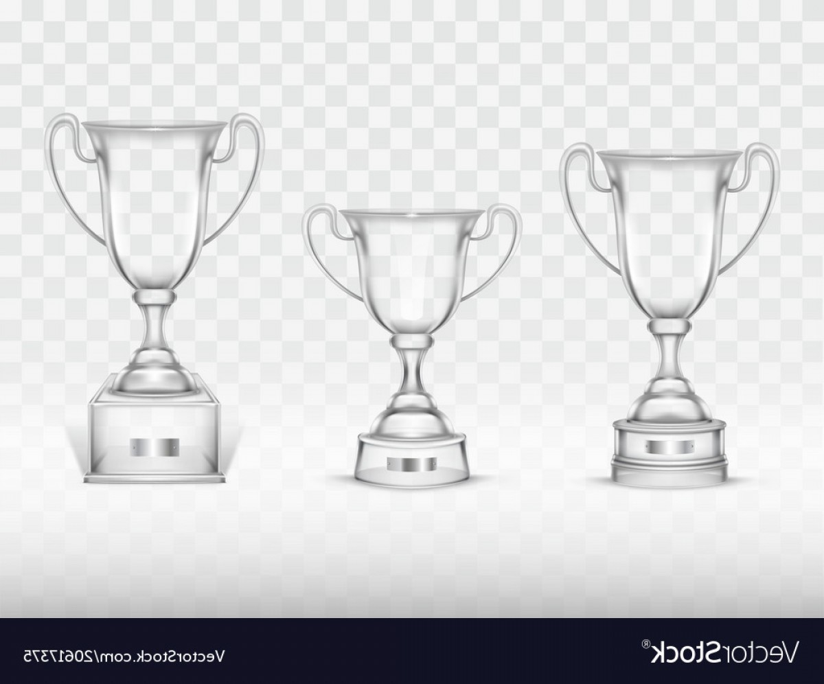 Beer Chalice Vector Logo: D Realistic Cup Transparent Glass Goblet Vector