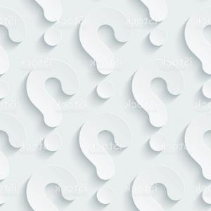 Vector Wallpaper Question: Abstract Background With Blue Question Marks Vector Clipart